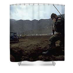 Shower Curtain featuring the photograph Boots On The Ground by Travel Pics
