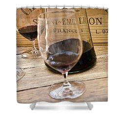 Bordeaux Wine Tasting Shower Curtain by Frank Tschakert