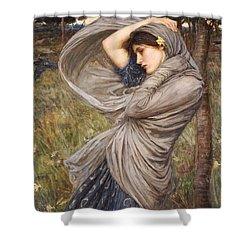 Boreas Shower Curtain by John William Waterhouse