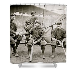 Boston Baseball Players   Gowdy, Tyler, Connolly Shower Curtain by American School