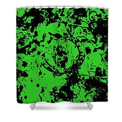 Boston Celtics 1a Shower Curtain by Brian Reaves