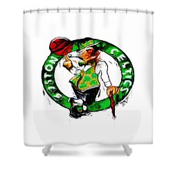 Boston Celtics 2b Shower Curtain by Brian Reaves