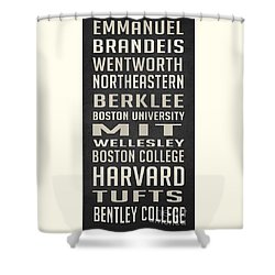 Boston Colleges Poster Shower Curtain by Edward Fielding