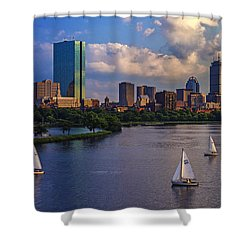 Boston Skyline Shower Curtain by Rick Berk
