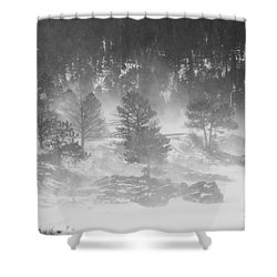 Boulder Canyon And Nederland Winter Landscape Shower Curtain by James BO  Insogna