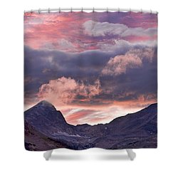 Boulder County Colorado Indian Peaks At Sunset Shower Curtain by James BO  Insogna