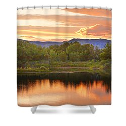 Boulder County Lake Sunset Landscape 06.26.2010 Shower Curtain by James BO  Insogna