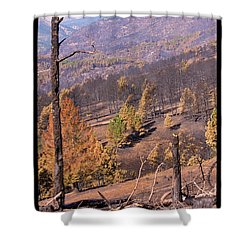 Boulder County Wildfire 5 Miles West Of Downtown Boulder Shower Curtain by James BO  Insogna