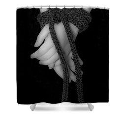 Bound Hands Shower Curtain by Joana Kruse