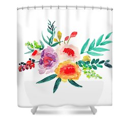 Bouquet Chic Shower Curtain by Rasirote Buakeeree