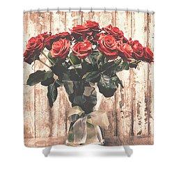 Bouquet Roses Shower Curtain by Wim Lanclus