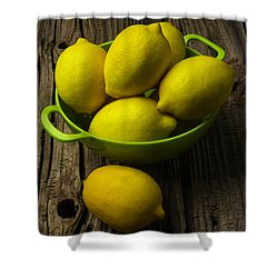 Bowl Of Lemons Shower Curtain by Garry Gay