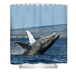 Breach Near Maui I Shower Curtain by Dave Fleetham - Printscapes