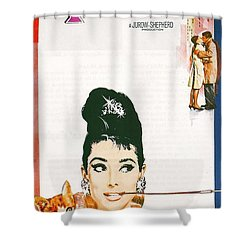 Breakfast At Tiffany's Shower Curtain by Georgia Fowler