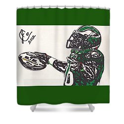 Brian Westbrook 2 Shower Curtain by Jeremiah Colley