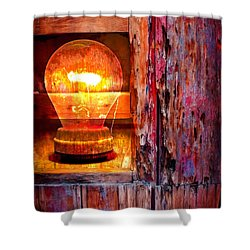 Bright Idea Shower Curtain by Skip Hunt