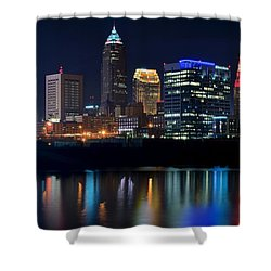 Bright Lights City Nights Shower Curtain by Frozen in Time Fine Art Photography