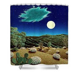 Bright Night Shower Curtain by Snake Jagger