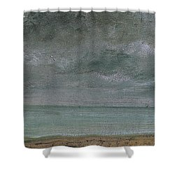 Brighton Beach Shower Curtain by John Constable
