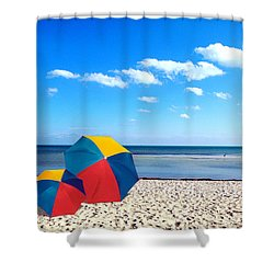 Bring The Umbrella With You Shower Curtain by Susanne Van Hulst