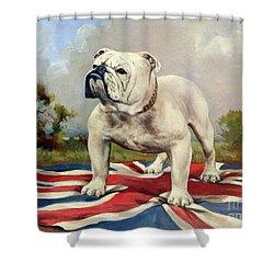 British Bulldog Shower Curtain by English School