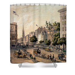 Broadway In The Nineteenth Century Shower Curtain by Augustus Kollner