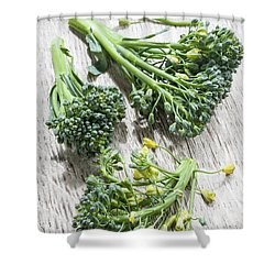 Broccoli Florets Shower Curtain by Elena Elisseeva