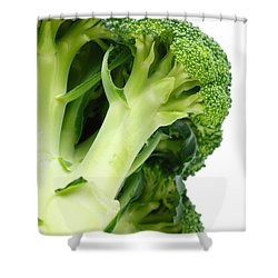 Broccoli Shower Curtain by Gaspar Avila