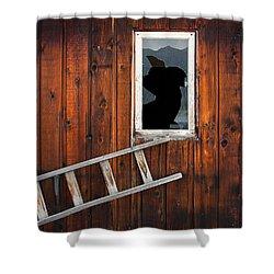 Broke Shower Curtain by Wayne Sherriff