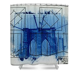 Brooklyn Bridge Shower Curtain by Jane Linders