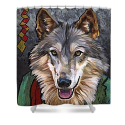Brother Wolf Shower Curtain by J W Baker