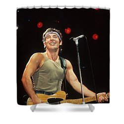 Bruce Springsteen Shower Curtain by Rich Fuscia
