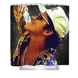 Bruno Mars Shower Curtain by Semih Yurdabak