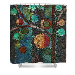 Bubble Tree - Spc02bt05 - Left Shower Curtain by Variance Collections