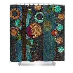 Bubble Tree - Spc02bt05 - Right Shower Curtain by Variance Collections