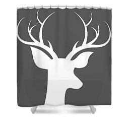 Buck Deer Shower Curtain by Chastity Hoff