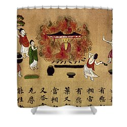 Buddha Shower Curtain by Granger