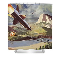 Bullpup Air To Surface Missile Shower Curtain by American School