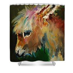 Burro Donkey Shower Curtain by Diane Whitehead