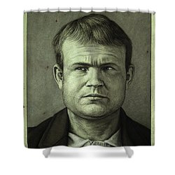 Butch Cassidy Shower Curtain by James W Johnson