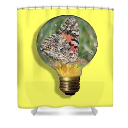 Butterfly In A Bulb II Shower Curtain by Shane Bechler