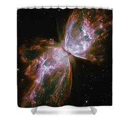 Butterfly Nebula Shower Curtain by The  Vault - Jennifer Rondinelli Reilly