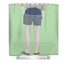 By The Bay Shower Curtain by Nicole Wilson