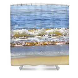By The Coral Sea Shower Curtain by Holly Kempe