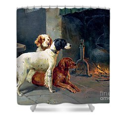 By The Fire Shower Curtain by Alfred Duke