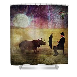 By The Light Of The Moon Shower Curtain by Terry Fleckney