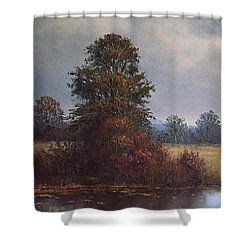 By The River Shower Curtain by Sean Conlon