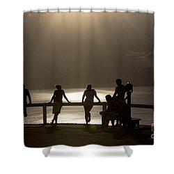 Byron Bay Lighthouse Shower Curtain by Avalon Fine Art Photography