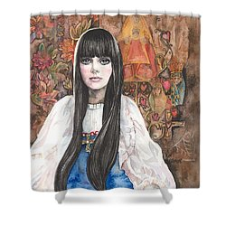 Byzantine Madonna Shower Curtain by Kim Whitton