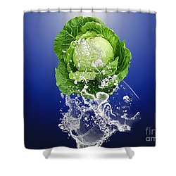 Cabbage Splash Shower Curtain by Marvin Blaine